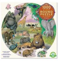 eeBoo - Puzzle Rund Tierwelt Afrika 1000 Teile