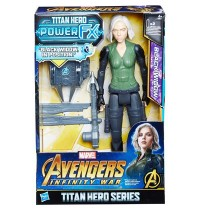 Hasbro - Avengers Titan Hero Black Widow mit Power FX Pack