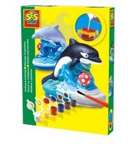 Figuren gießen Delphin