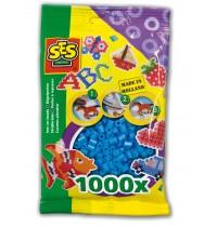 Bügelperlen blau 1000St.
