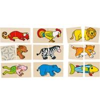 Memo und Puzzle lustige Tiere