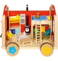 Puppenbauwagen mit Zubehör