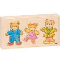 Anziehpuppenpuzzle Bärenfamil