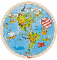 Einlegepuzzle Auf Weltreise,