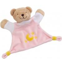 Kuscheltuch Bär (rosa)