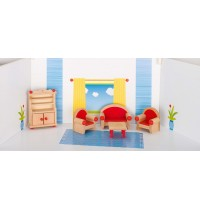 Wohnzimmer aus Holz,