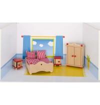 Schlafzimmer aus Holz,