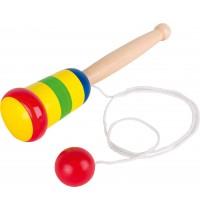 Fang den Ball, aus Holz, farb