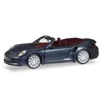 Herpa - Porsche 911 Turbo Cabriolet, tiefschwarzmetallic