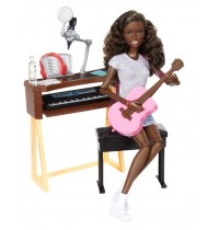 Mattel Barbie - Musikerin Puppe und Spielset (brünett)