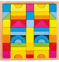 Bausteine Regenbogenfarben