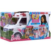 Mattel - Barbie 2-in-1 Krankenwagen Spielset