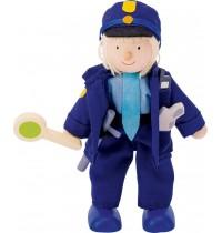Biegepuppe Polizist