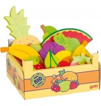 Obst in Obstkiste, Kiste: 13,
