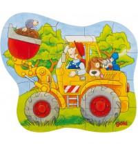 Konturpuzzle Traktor 20x21cm,