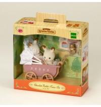 Sylvanian Families 2206 Schokoladenhase Zwillinge mit Kinderwagen