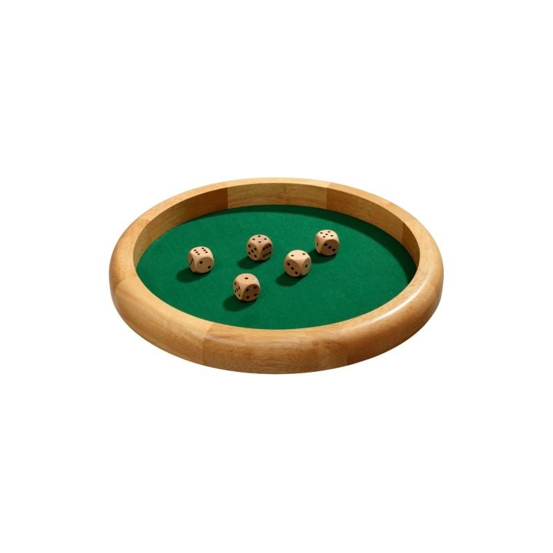 40 cm Philos Würfelbrett extra groß aus Holz 3143