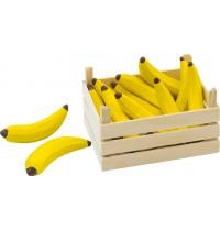 Bananen in Obstkiste, Kiste: