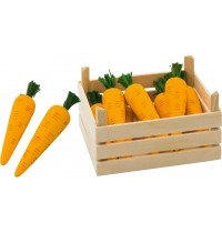 Möhren in Gemüsekiste, Kiste