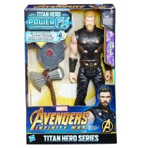 Hasbro - Avengers Titan Hero Thor mit Power FX Pack