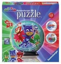 Ravensburger Spiel - 3D puzzleball - PJ Masks, 72 Teile