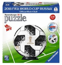 Ravensburger Puzzle - 3D Puzzles - Match Ball 2018 FIFA World Cup, 540 Teile