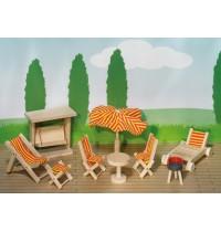 Puppenhaus Gartenmöbel