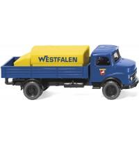 Wiking - Pritschen-Lkw mit Aufsatztank MB Westfalen