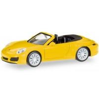 Herpa - Porsche 911 Carrera 4S Cabrio, racinggelb