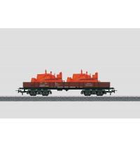 Märklin my world - Niederbordwagen mit Planierraupe und Schaufellader