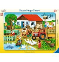 Ravensburger Puzzle - Rahmenpuzzle - Was gehört wohin?, 15 Teile
