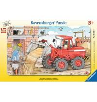 Ravensburger Puzzle - Rahmenpuzzle - Mein Bagger, 15 Teile