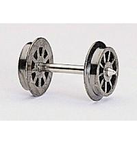 Fleischmann - Speichenradsatz 23,5 mm. nicht isoliert für Wechselstromsystem