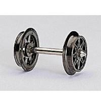 Fleischmann - Doppelspeichenradsatz 24 mm. Nicht isoliert