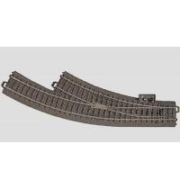 Märklin - H0 - C-Gleis Bogenweiche rechts R1   360 mm / 30 ° ( nachrüstbar )