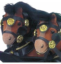 Wilesco Z 431 - Pferdegespann mit Deichsel schwarz/messing