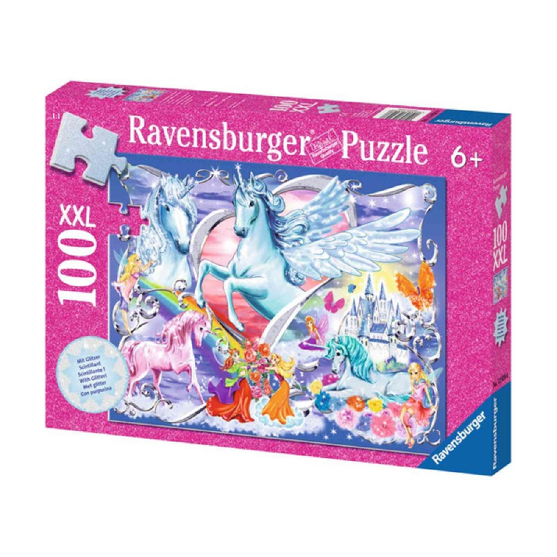 Ravensburger Puzzle - Die schönsten Einhörner, 100 Teile
