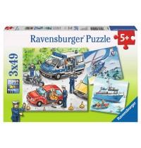 Ravensburger Puzzle - Polizeieinsatz, 3x49 Teile