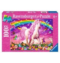 Ravensburger Puzzle - Glitzerpuzzle - Pferdetraum, 100 Teile