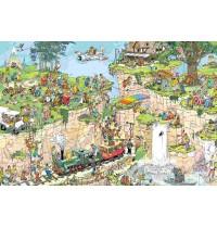 Jumbo Spiele - Puzzle - Jan van Haasteren - Der Golfplatz, 1500 Teile
