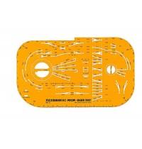 Fleischmann piccolo - Gleisplanschablone für das FLEISCHMANN H0 PROFI-Gleis