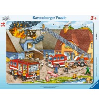 Ravensburger Puzzle - Rahmenpuzzle - Wasser marsch!, 14 Teile