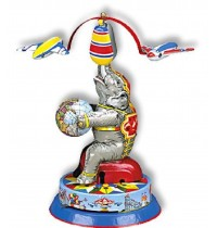 Wilesco Blechspielzeug - Elefant mit zwei Fliegern