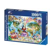 Ravensburger Puzzle - Disneys Weltkarte, 1000 Teile