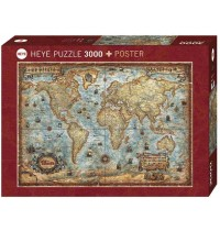 Heye - Standardpuzzle 3000 Teile - The World
