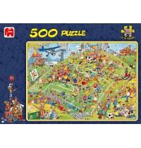 Jumbo Spiele - 500 Teile Puzzle - Jan van Haasteren, Fußballfieber