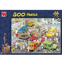 Jumbo Spiele - 500 Teile Puzzle - Jan van Haasteren, In der Autolackiererei