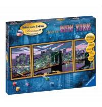 Ravensburger Spiel - Malen nach Zahlen Premium Triptychon - Skyline von New York