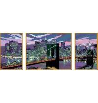 Ravensburger Spiel Malen Nach Zahlen Premium Triptychon Skyline Von New York