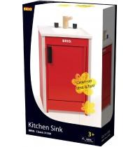 BRIO - Role Play Kitchen - Roter Geschirrspülschrank